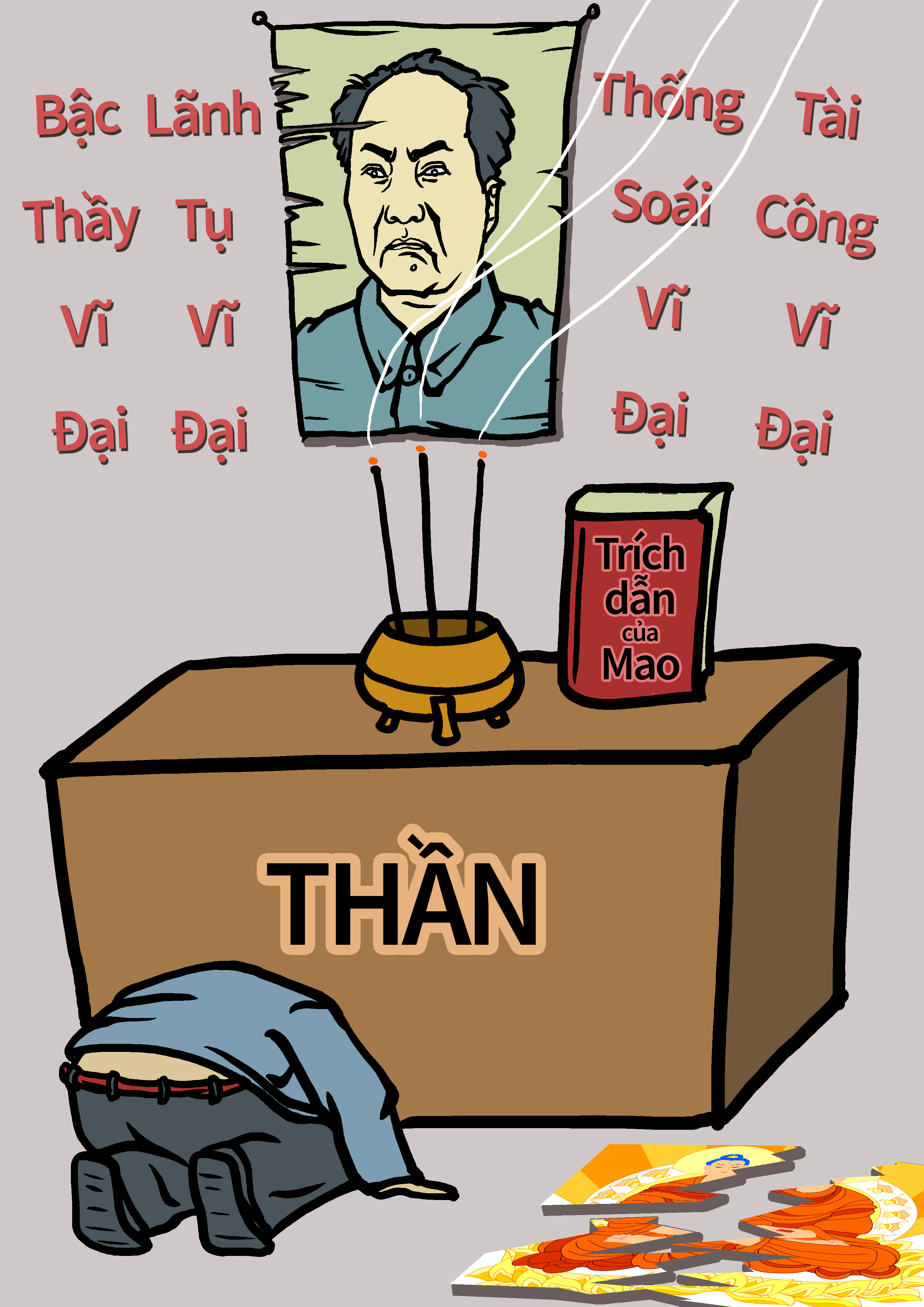 Bản chất của ĐCSTQ: Tuyên truyền sự vĩ đại của Marx, Engels, Lenin và Mao Trạch Đông