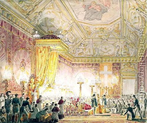 '图3曾经的杜伊勒里王宫内部一厅(1859)'