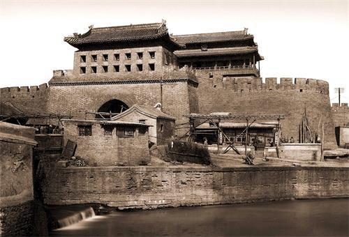 '图6 老永定门城楼、瓮城和箭楼'